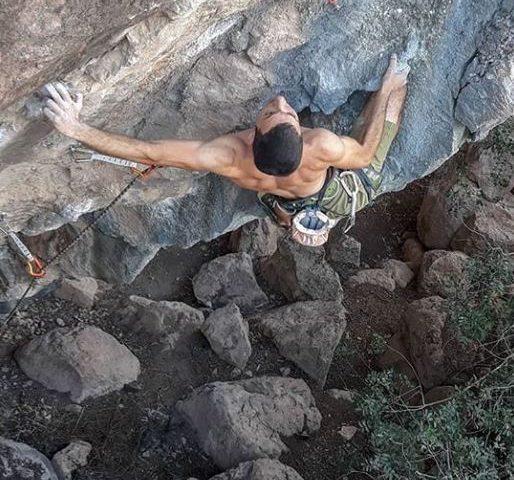 Kyriakos Rossidis climbing at Episkopi sector